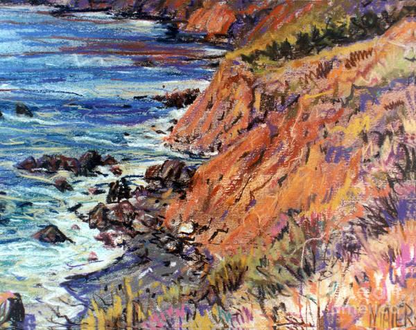 Big Sur Wall Art - Drawing - California Coast by Donald Maier