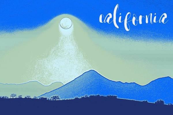 Painting - California Coast Travel Poster 2 by Adam Asar