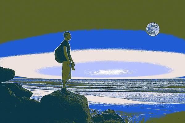 Painting - California Coast Travel Poster 3 by Adam Asar