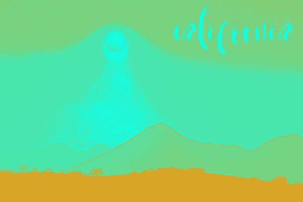 Painting - California Coast Travel Poster 5 by Adam Asar