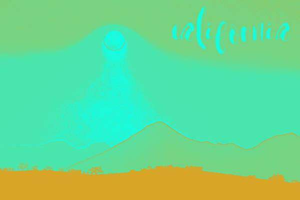 Painting - California Coast Travel Poster 6 by Adam Asar