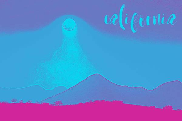 Painting - California Coast Travel Poster 7 by Adam Asar