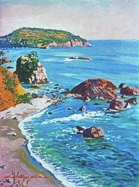 Painting - California Coastline by David Lloyd Glover