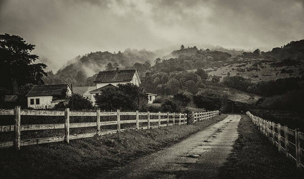 Photograph - Northern California Country Road And Home by Donnie Whitaker