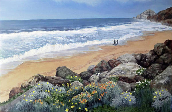 Painting - California Dreaming by Mary Palmer