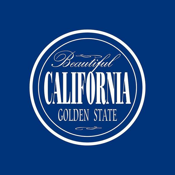 Clothing Design Mixed Media - California Golden State Design by Peter Potter