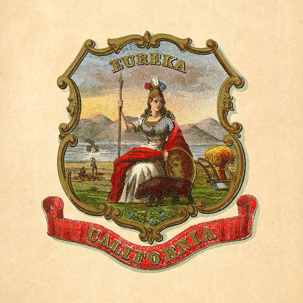 Digital Art - California Historical Coat Of Arms Circa 1876 by Serge Averbukh