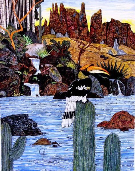 Hornbill Painting - California Hornbill by Doug Hiser