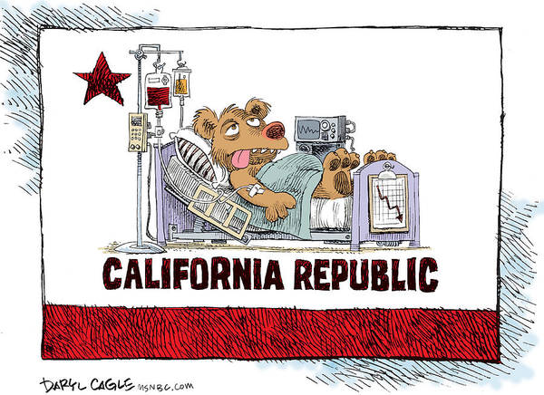 Drawing - California Is Sick by Daryl Cagle