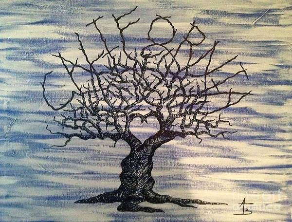 Drawing - California Love Tree by Aaron Bombalicki