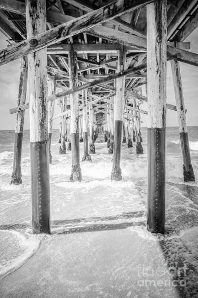 Underneath Photograph - California Pier Black And White Picture by Paul Velgos