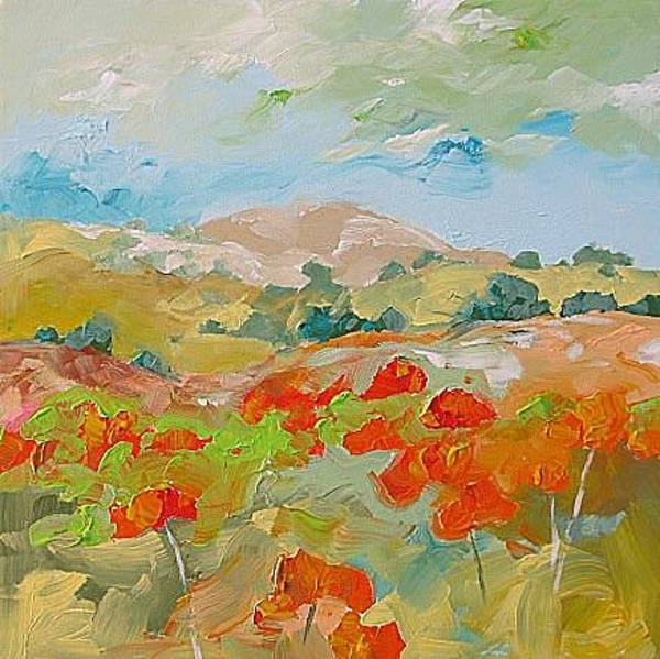 Fauve Painting - California Poppies by Linda Monfort