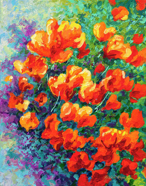 Wall Art - Painting - California Poppies by Marion Rose
