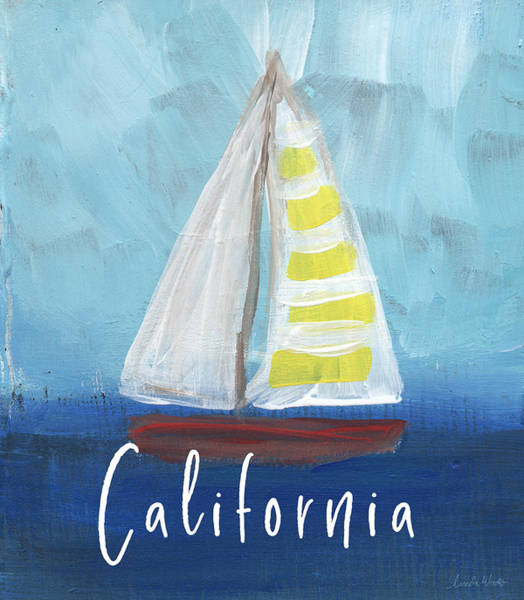 Northern California Wall Art - Mixed Media - California Sailing- Art By Linda Woods by Linda Woods