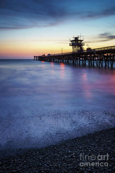 2017 Photograph - California San Clemente Pier At Sunset Picture by Paul Velgos
