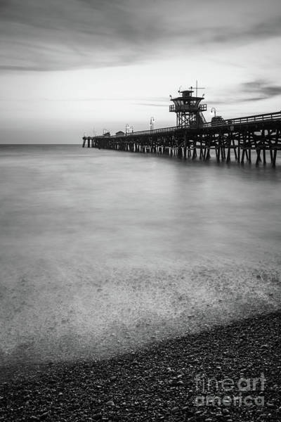 2017 Photograph - California San Clemente Pier Black And White Picture by Paul Velgos