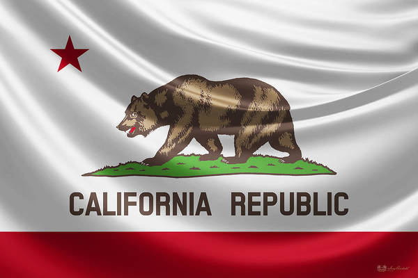 Digital Art - California State Flag by Serge Averbukh