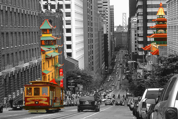 Photograph - California Street San Francisco by Peter Potter