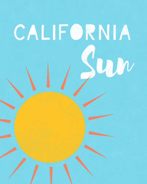 Digital Art - California Sun- Art By Linda Woods by Linda Woods
