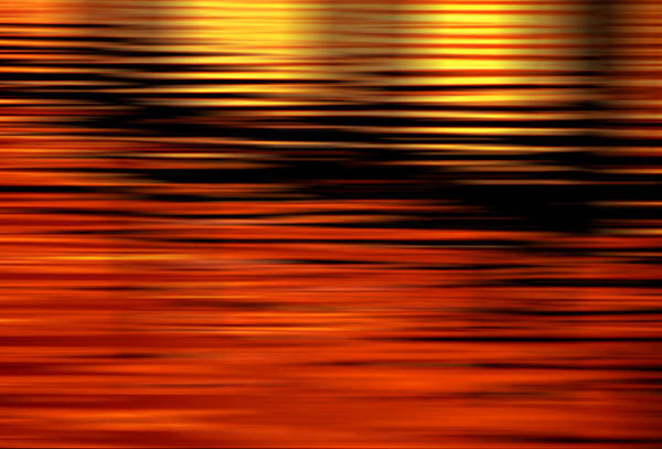 Photograph - California Sunrise Sunset On Water Digital Abstracts Motion Blur by Rich Franco