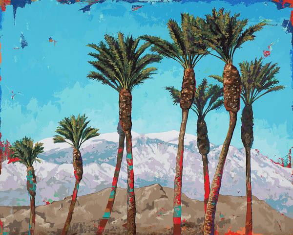 Palm Tree Painting - California Winter by David Palmer