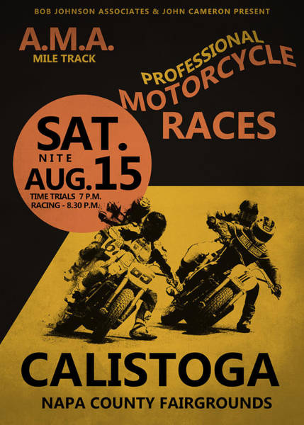 Wall Art - Photograph - Calistoga Motorcycle Races by Mark Rogan