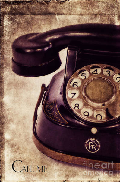 Phone Wall Art - Photograph - Call Me by Angela Doelling AD DESIGN Photo and PhotoArt