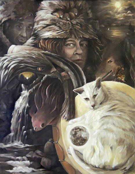 Painting - Call To The Spirits by Nancy Griswold