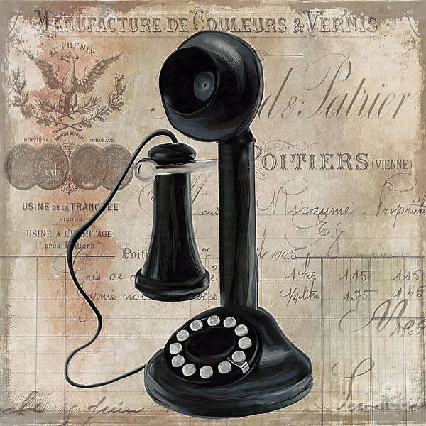 Dial Painting - Call Waiting I by Mindy Sommers