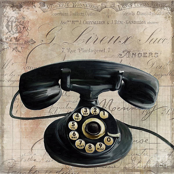 Dial Painting - Call Waiting II by Mindy Sommers