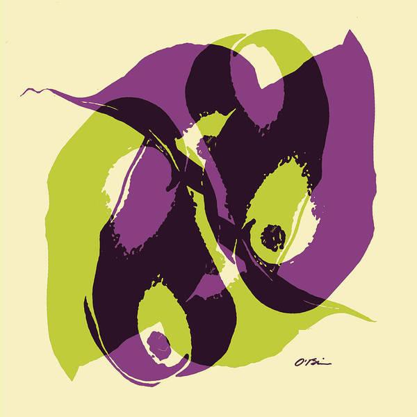 Calla Mixed Media - Calla Gala Abstract  by Claudia O'Brien