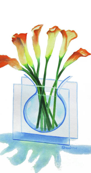 Long Shadow Painting - Calla Lilies by Kathy Braud