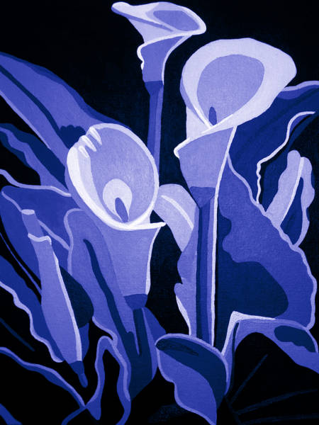 Painting - Calla Lilies Royal by Angelina Tamez
