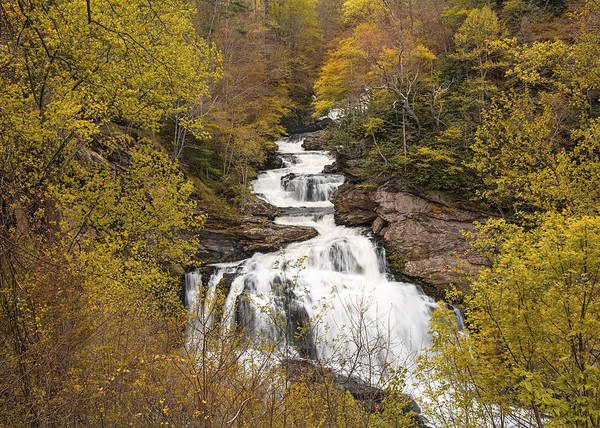 Photograph - Callasaja Falls- North Carolina by Penny Lisowski