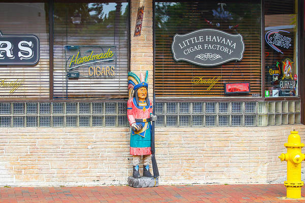 Photograph - Calle Ocho Cigar Indian by Dart and Suze Humeston