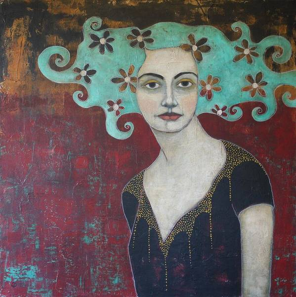 Portrait Wall Art - Painting - Calling From The Deep by Jane Spakowsky