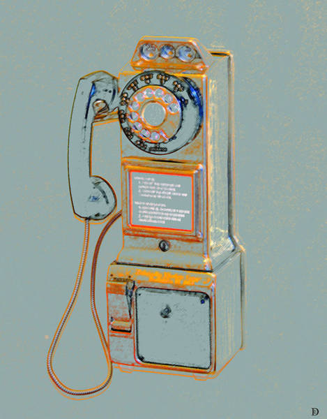 Dial Painting - Calling The 1970s by David Lee Thompson