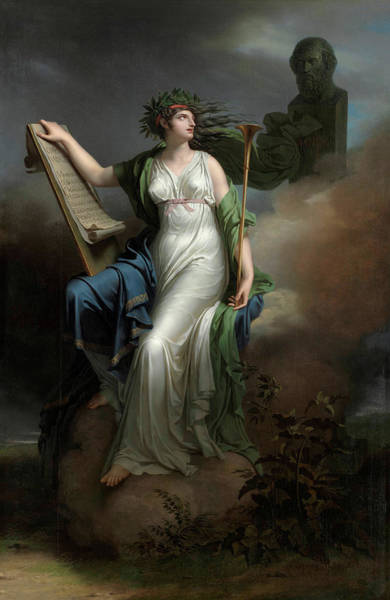 Beauty Wall Art - Painting - Calliope, Muse Of Epic Poetry by Charles Meynier