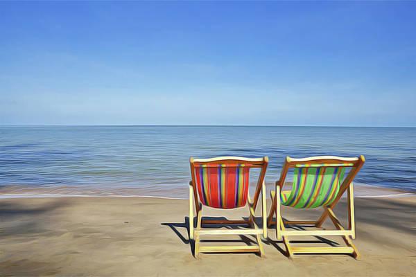 Painting - Calm Beach by Harry Warrick