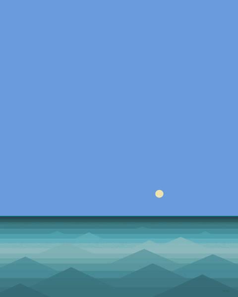 Semis Digital Art - Calm Blue Seas by Val Arie