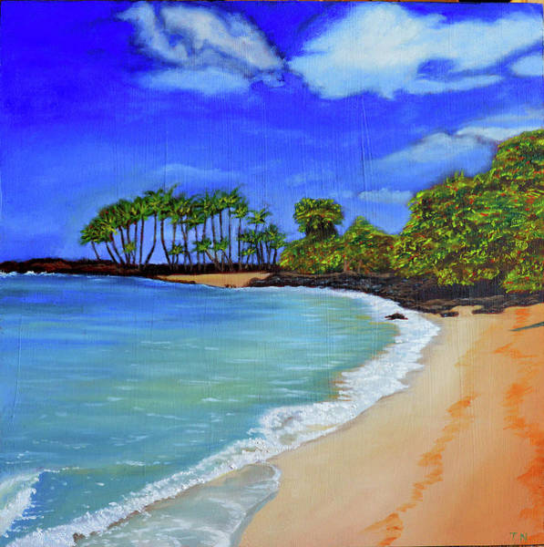 Painting - Calm - Coastal Landscape by Thu Nguyen