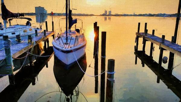 Photograph - Calm In Pensacola Beach by JC Findley