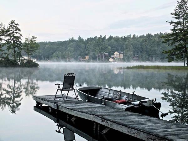 Calm Morning On Little Sebago Lake Art Print