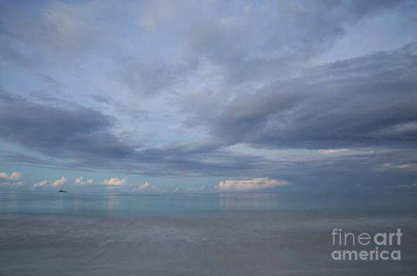 Photograph - Calm Ocean Horizon At Dusk by Charmian Vistaunet