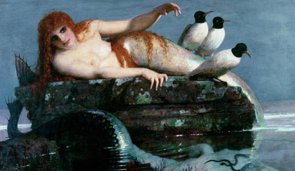 Serpent Painting - Calm Sea by Arnold Bocklin