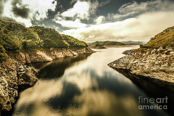 Dam Wall Art - Photograph - Calm Still Water Reflections by Jorgo Photography - Wall Art Gallery