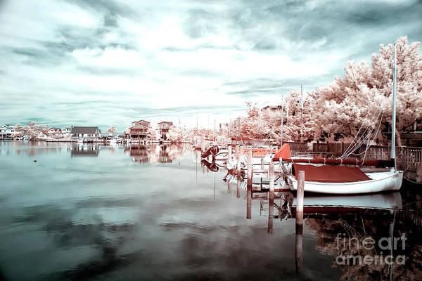 Photograph - Calmness At Long Beach Island Blue Infrared by John Rizzuto