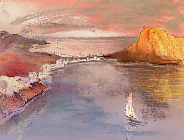 Painting - Calpe At Sunset by Miki De Goodaboom