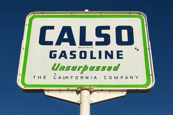 Wall Art - Photograph - Calso Gasoline - #1 by Stephen Stookey