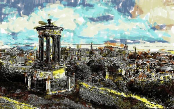 Painting - Calton Hill Edinburgh by Dean Wittle